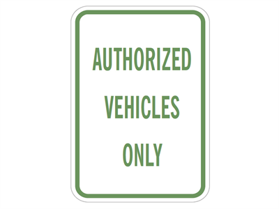 Picture of Authorized Vehicles Only